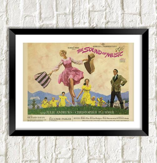 SOUND OF MUSIC POSTER: Julie Andrews Film Art Reprint - The Print Arcade