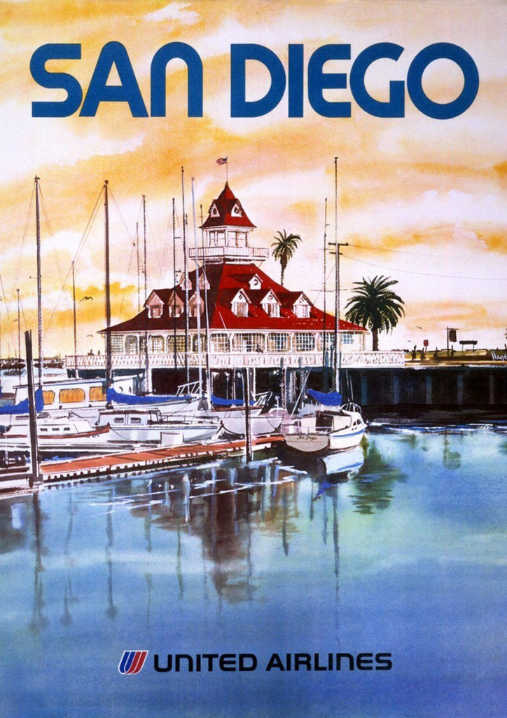 SAN DIEGO POSTER: American West Coast Travel Advert - The Print Arcade