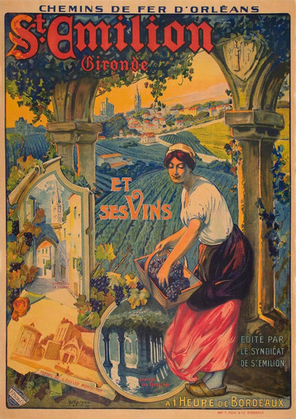 ST EMILION POSTER: Vintage French Wine Region Print - The Print Arcade