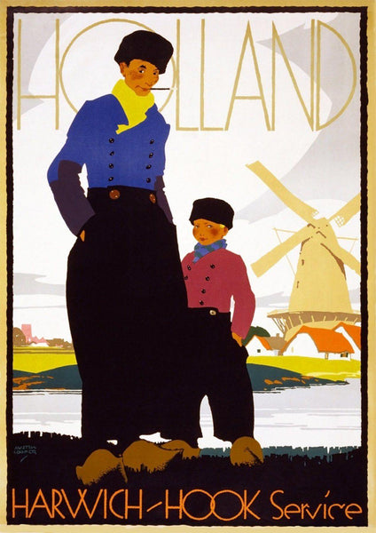 HOLLAND TRAVEL POSTER: Vintage Dutch Holiday Print - The Print Arcade