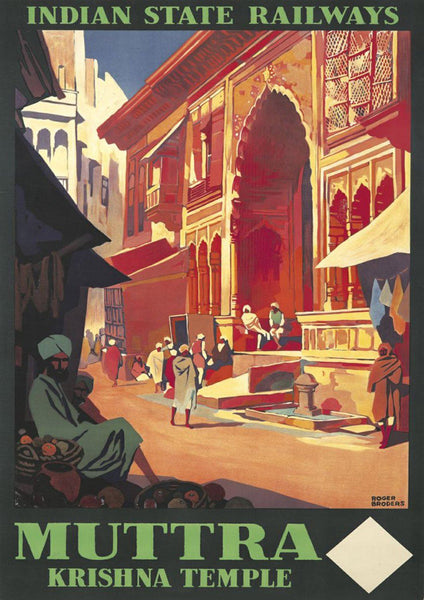 MATHURA INDIA POSTER: Vintage Muttra Tourism Advert - The Print Arcade