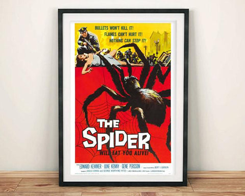 SPIDER FILM POSTER: Cult B-Movie Spider Poster Reprint - The Print Arcade