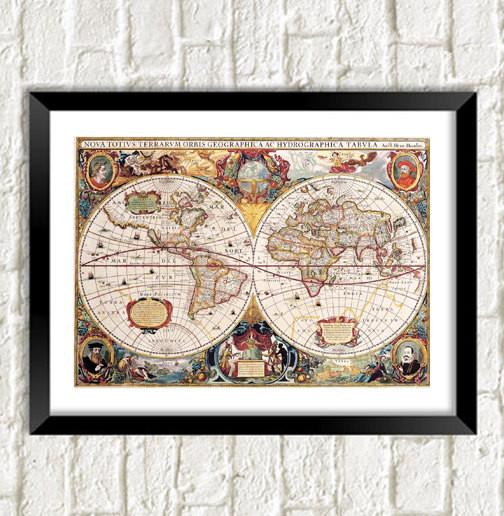 ROMAN MAP PRINT: World Cartography Art - The Print Arcade
