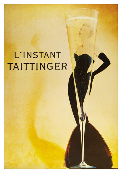 CHAMPAGNE POSTER: Grace Kelly L'Instant Taittinger Art Print - The Print Arcade