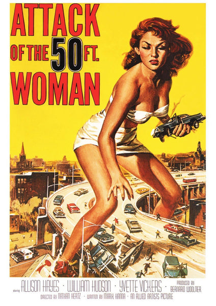 SCI-FI FILM POSTER: Attack of the 50ft Woman Movie Print - The Print Arcade