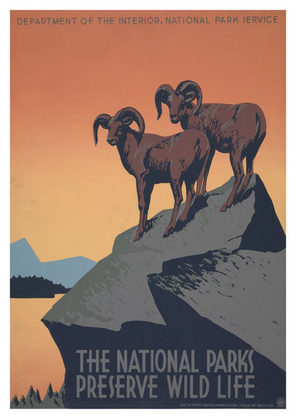 NATIONAL PARKS POSTER: Vintage Travel Advert Print - The Print Arcade