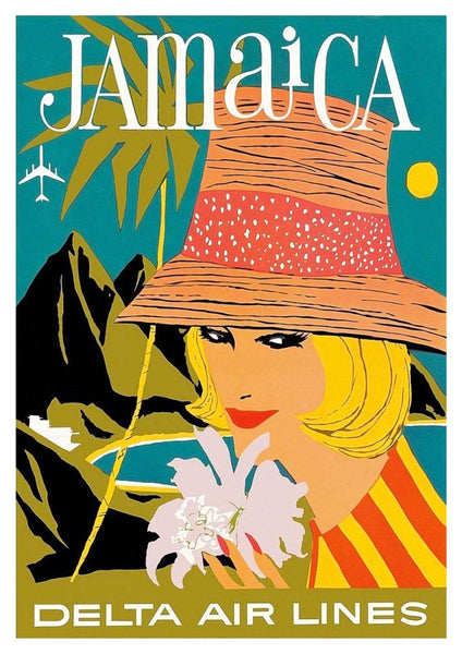 JAMAICA POSTER: Vintage Airline Travel Advert Art Print - The Print Arcade