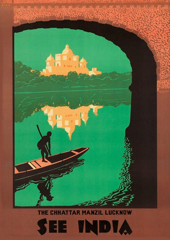 CHHATTAR INDIA POSTER: Vintage Travel Advert Print - The Print Arcade