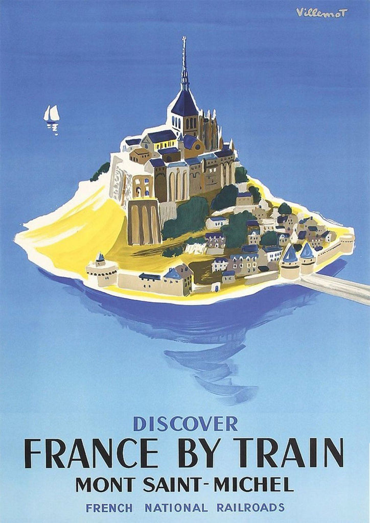 MONT ST MICHEL POSTER: French Island Art Print - The Print Arcade