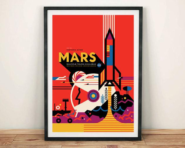 MARS POSTER: NASA Space Art Print Wall Hanging - The Print Arcade