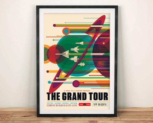 NASA SPACE POSTER: The Grand Tour Planets Print - The Print Arcade
