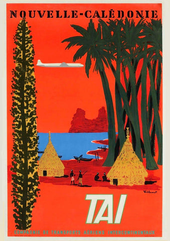 NEW CALEDONIA POSTER: South Pacific Island Travel Print - The Print Arcade