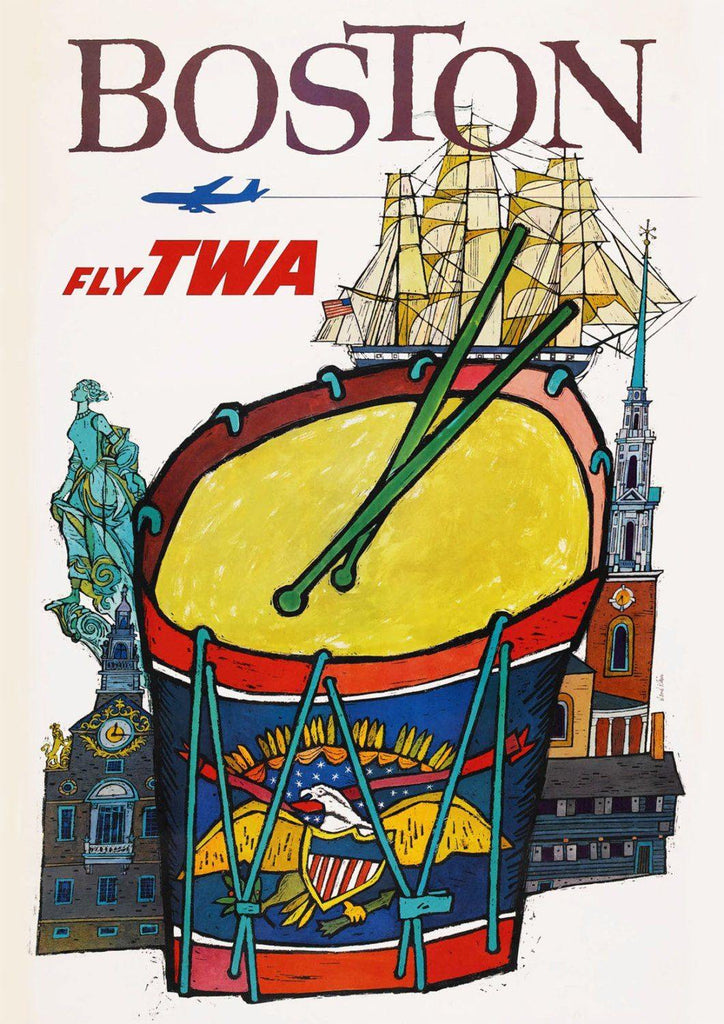 BOSTON TRAVEL POSTER: Vintage American Travel Advert - The Print Arcade
