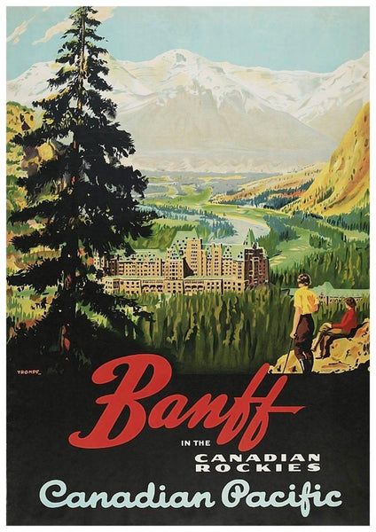 BANFF TRAVEL POSTER: Vintage Canadian Travel Advert - The Print Arcade