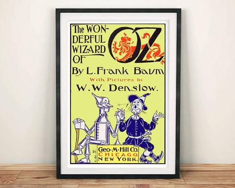 WIZARD OF OZ POSTER: Vintage Book Cover Art Print - The Print Arcade