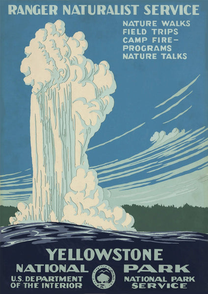 YELLOWSTONE GEYSER POSTER: Vintage Travel Advert - The Print Arcade