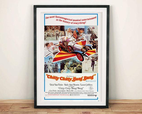 CHITTY BANG BANG Poster: Classic Flying Car Family Film Art Reprint