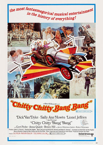 CHITTY BANG BANG Poster: Classic Flying Car Family Film Art Reprint - The Print Arcade