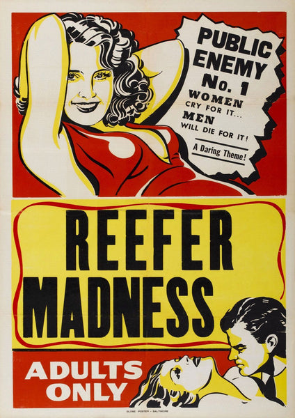 REEFER MADNESS POSTER: Retro Anti Drugs Movie Art Reprint - The Print Arcade
