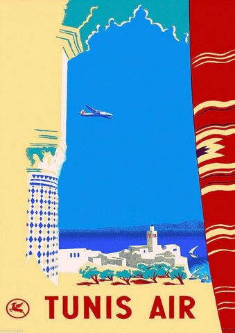 TUNISIA TRAVEL POSTER: Vintage Holiday Advert Print - The Print Arcade
