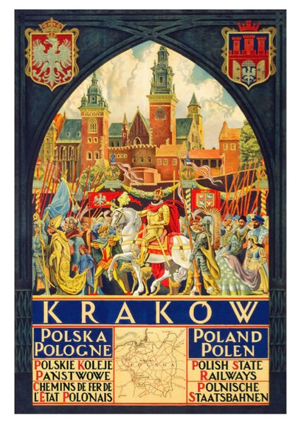 KRAKOW POLAND POSTER: Vintage Travel Advert Print - The Print Arcade