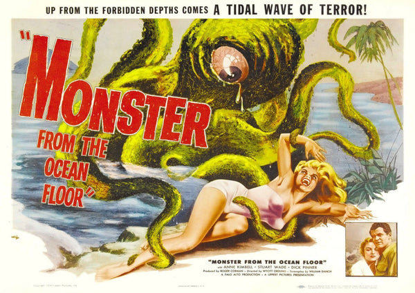 MONSTER FILM POSTER: Cult B-Movie Ocean Octopus Poster - The Print Arcade