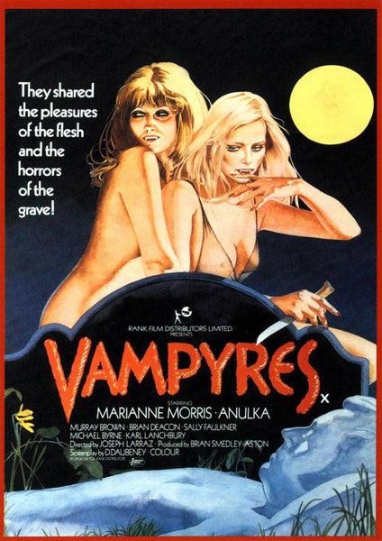 VAMPYRES MOVIE POSTER: Cult Vampire Film Poster Reprint - The Print Arcade