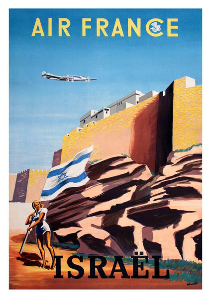 Httpwww Overlordsofchaos Comhtmlorigin Of The Word Jew Html: ISRAEL TOURISM POSTER: Vintage Israeli Flag Travel Advert