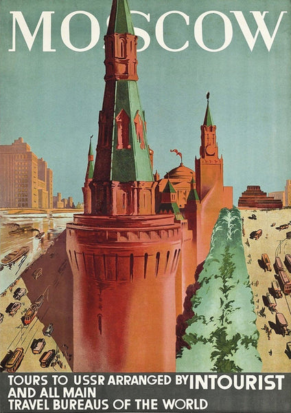 MOSCOW TRAVEL POSTER: Vintage Russia Tourism Print - The Print Arcade