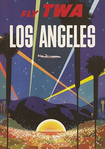 LOS ANGELES POSTER: Vintage Hollywood Travel Advert - The Print Arcade