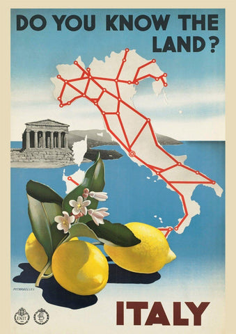 ITALY TRAVEL POSTER: Vintage Italian Tourism Advert