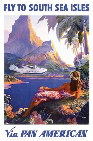 SOUTH PACIFIC POSTER: Vintage South Seas Travel Advert - The Print Arcade