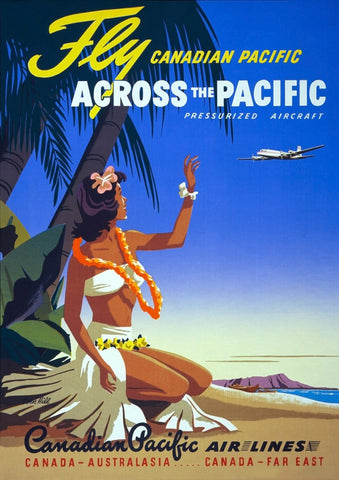 PACIFIC ISLAND POSTER: Vintage South Seas Travel Advert - The Print Arcade