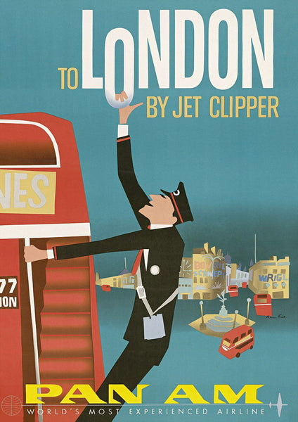 LONDON BUS POSTER: Vintage Airline Clipper Advert - The Print Arcade