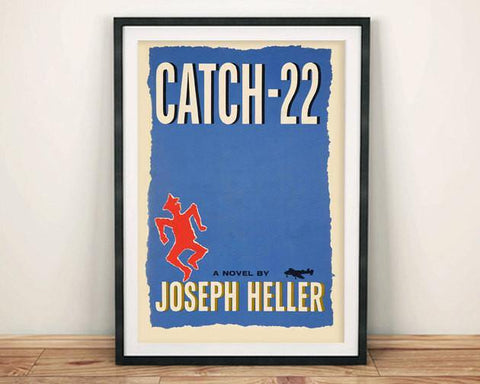 CATCH 22 POSTER: Vintage Book Cover Art Print - The Print Arcade