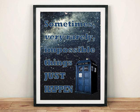 DOCTOR WHO PRINT: Tardis 'Impossible Things' Poster Art - The Print Arcade