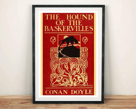 HOUND OF THE BASKERVILLES: Vintage Sherlock Holmes Book Cover Art Print