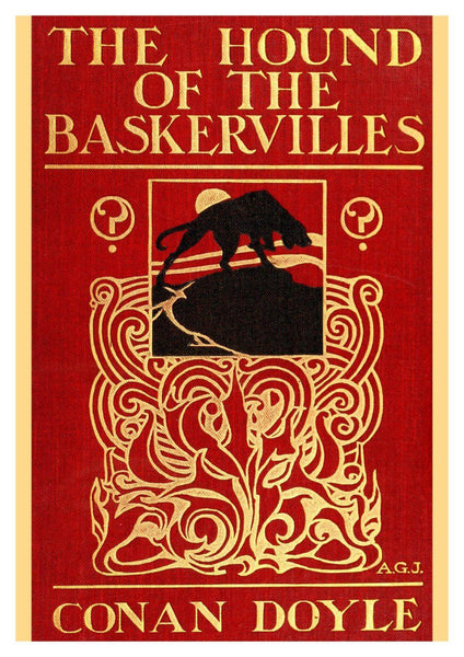 HOUND OF THE BASKERVILLES: Vintage Sherlock Holmes Book Cover Art Print - The Print Arcade