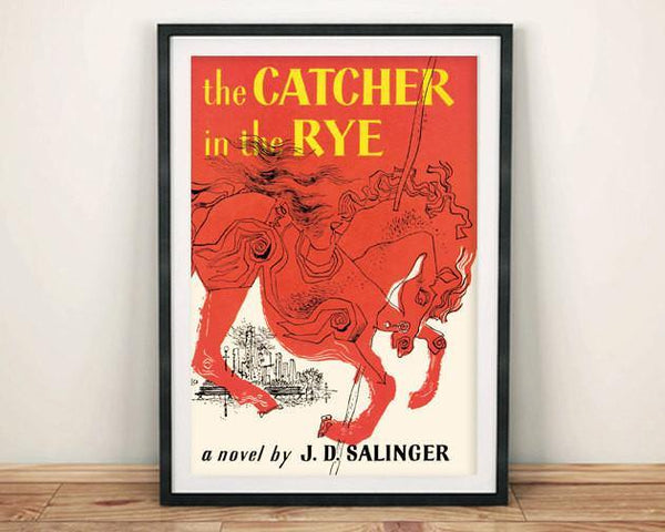 CATCHER IN THE RYE PRINT: Vintage Book Cover Poster Art