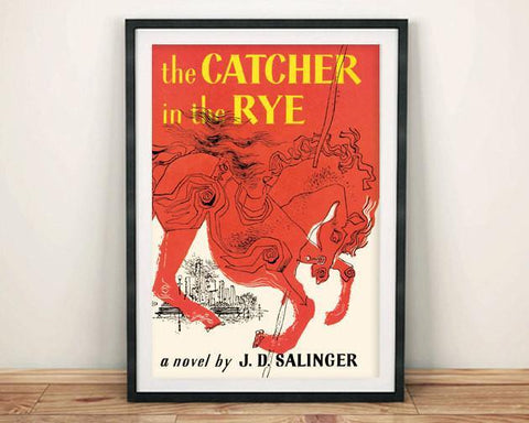 CATCHER IN THE RYE PRINT: Vintage Book Cover Poster Art - The Print Arcade