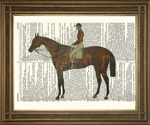 HORSE ART PRINT: Dictionary Page Equestrian Wall Hanging - The Print Arcade