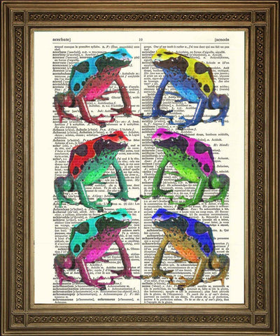 COLOURFUL FROGS: Amphibian Dictionary Print - The Print Arcade