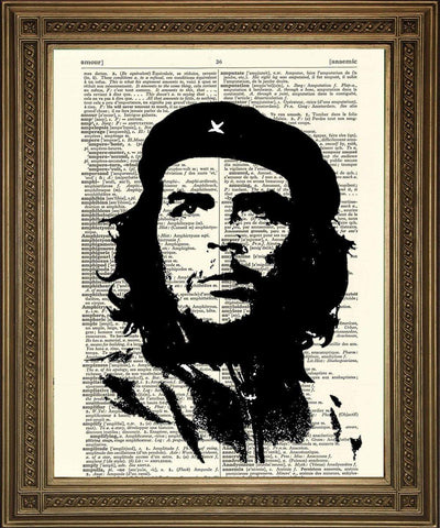 CHE GUEVARA: Iconic Dictionary Art Print - The Print Arcade