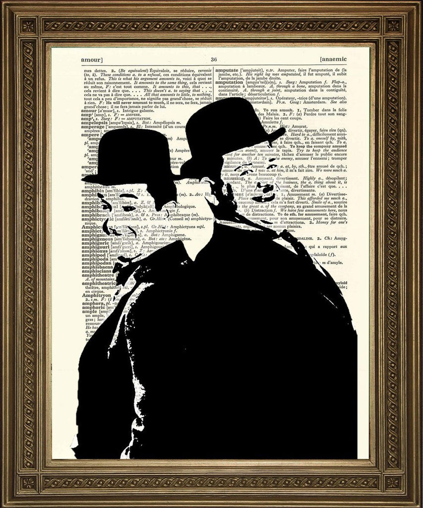 LAUREL & HARDY: Vintage Comedy Dictionary Page Art Print - The Print Arcade