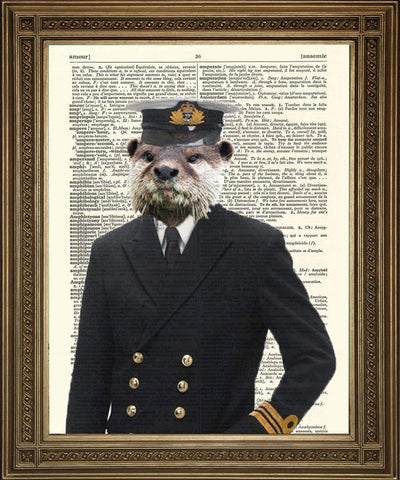 ADMIRAL OTTER: Novelty Dictionary Art Print - The Print Arcade