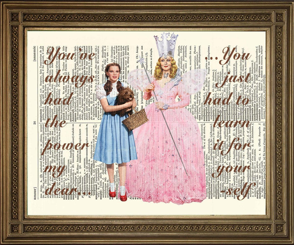 WIZARD OF OZ: Dorothy & Glinda Dictionary Art Print - The Print Arcade