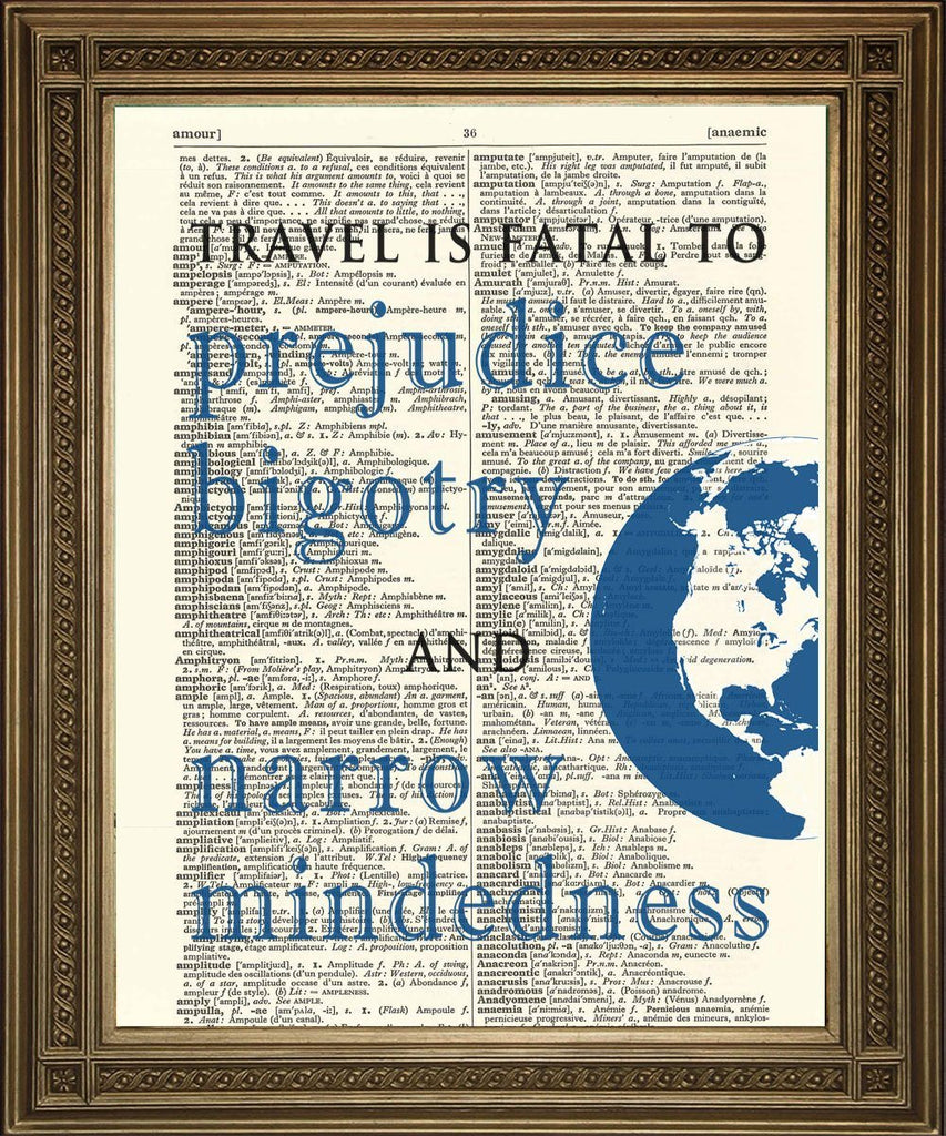 TRAVEL QUOTATION PRINTS: World Book Dictionary Art - The Print Arcade