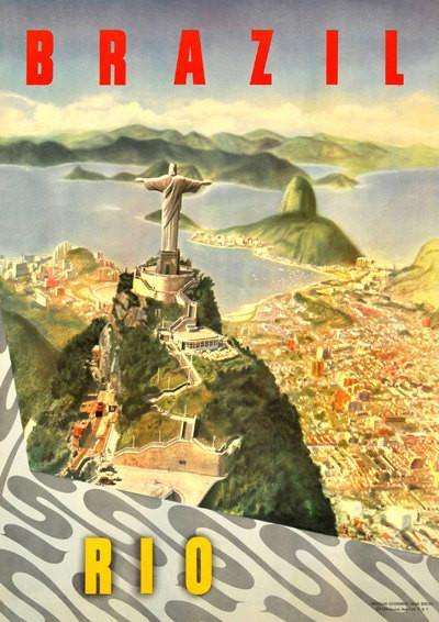 BRAZIL TRAVEL POSTER: Vintage Rio Advert Art Print - The Print Arcade