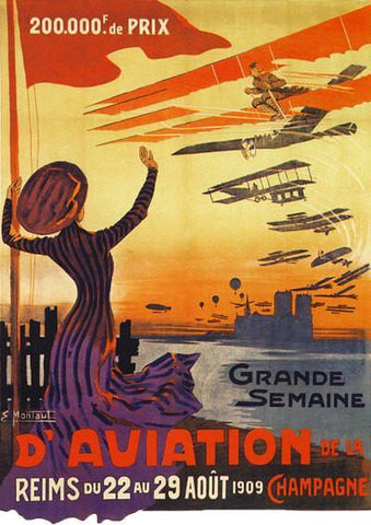 AVIATION TRAVEL POSTER: Vintage Airplane Advert Print - The Print Arcade