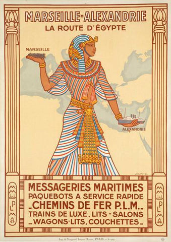 EGYPT TRAVEL POSTER: Vintage Pharaoh Art Print - The Print Arcade